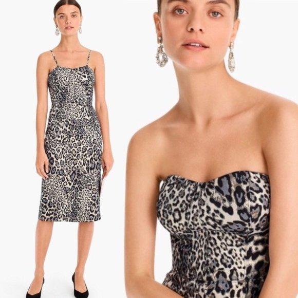 J. Crew Dresses & Skirts - J. Crew Metallic Leopard Spot Party Dress